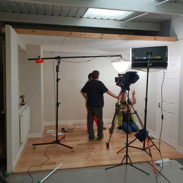 Steve Lord Lighting Cameraman filming on set